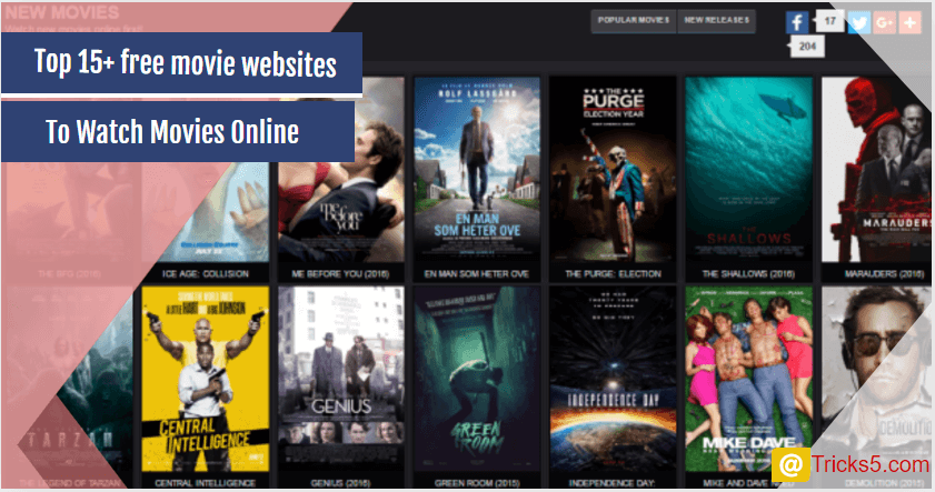 Free Movie Websites To Watch Online Movies