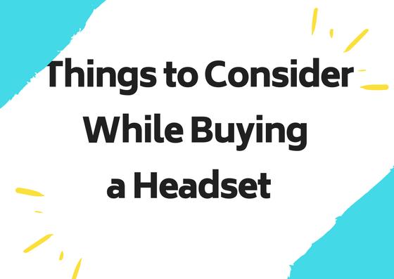 buying headset